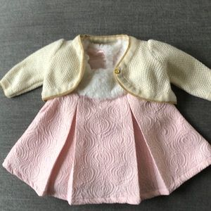 New Cat and Jack baby girl dress with sweater
